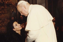 "Lucia Aliberti with ""Pope Karol Wojtyla""⚘Pope John Paul II⚘Concert⚘Vatican⚘III World meeting of the Families⚘Saint Peter's Square⚘Vatican⚘Rome⚘Private Audience⚘:http://www.luciaaliberti.it #luciaaliberti #karolwojtyla #vatican #rome #IIIworldmeetingofthefamilies #saintpeterssquare #privateaudience"