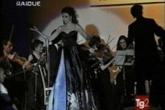 Lucia Aliberti⚘Guest Star⚘High Fashion⚘Fashion Show⚘Fashion Designer Raffaella Curiel⚘TV Portrait⚘Rome⚘photo taken from the TV⚘:http://www.luciaaliberti.it #luciaaliberti #raffaellacurielfashion #rome #tvportrait #highfashion #onstage #gueststar