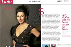 """Lucia Aliberti⚘""""Ich singe nur noch das,worauf ich Lust habe""""⚘Gala Magazine⚘6 juli 2017⚘celebrated """"40 Years of International Career""""⚘Berlin⚘:http://www.luciaaliberti.it #luciaaliberti #galamagazine #berlin #hamburg"""
