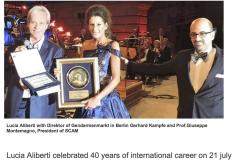 "Lucia Aliberti⚘""Wedzlife.com""⚘Magazine on-line⚘celebrated ""40 Years of International Career""⚘Berlin⚘Portrait⚘:http://www.luciaaliberti.it #luciaaliberti #wedzlife.com #magazine #portrait"