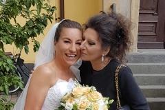 Lucia Aliberti at the wedding of her great friend Bernadette Herzog⚘Dusseldorf⚘Armani Fashion⚘:http://www.luciaaliberti.it #luciaaliberti #bernadetteherzog #wedding #dusseldorf #armanifashion