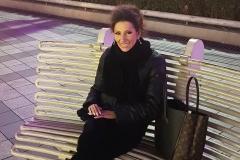 """Lucia Aliberti relaxing sitting in the """"Nan Jing Xi Lu""""Fashion Street⚘Shanghai⚘China Tour⚘:http://www.luciaaliberti.it #luciaaliberti #concert #shanghai #nanjingxilustreet #fashionstreet"""