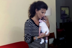 "Lucia Aliberti with her granddaughter ""Costanza"" how beautiful it is to do the aunt"