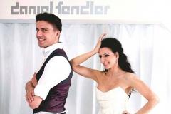 Lucia Aliberti with the Fashion Designer Daniel Fendler⚘floral dress by Daniel Fendler⚘photo shooting⚘:http://www.luciaaliberti.it #luciaaliberti #danielfendler #munich #photoshooting