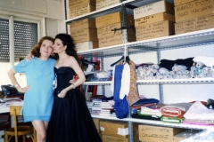 Lucia Aliberti with the Fashion Designer Raffaella Curiel⚘try an vening Dress for the TV Show Donna sotto le Stelle⚘Canale 5⚘High Fashion⚘Raffaella Curiel's Atelier⚘Milan⚘:http://www.luciaaliberti.it #luciaaliberti #raffaellacurielfashion #curielatelier #milan