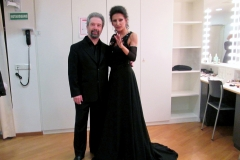 "Lucia Aliberti with the Ukraine conductor and pianist Oleg Ptashnikov⚘Charity Concert⚘""Marianne Strauss Stifftung""⚘August Everding Saal⚘Munich⚘Dressing Room⚘Krizia Fashion⚘:http://www.luciaaliberti.it #luciaaliberti #olegptashnikov #mariannestraussstifftung #augusteverdingsaal #munich #charityconcert #dressingroom #kriziafashion"