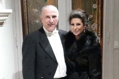 Lucia Aliberti with the conductor Jean-Louis Dedieu⚘Charity Gala Concert⚘Saint Nicholas Cathedral⚘Montecarlo⚘dressing room⚘:http://www.luciaaliberti.it #luciaaliberti #jeanlouisdedieu #saintnicholascathedral #montecarlo #charitygalaconcert #escadafashion
